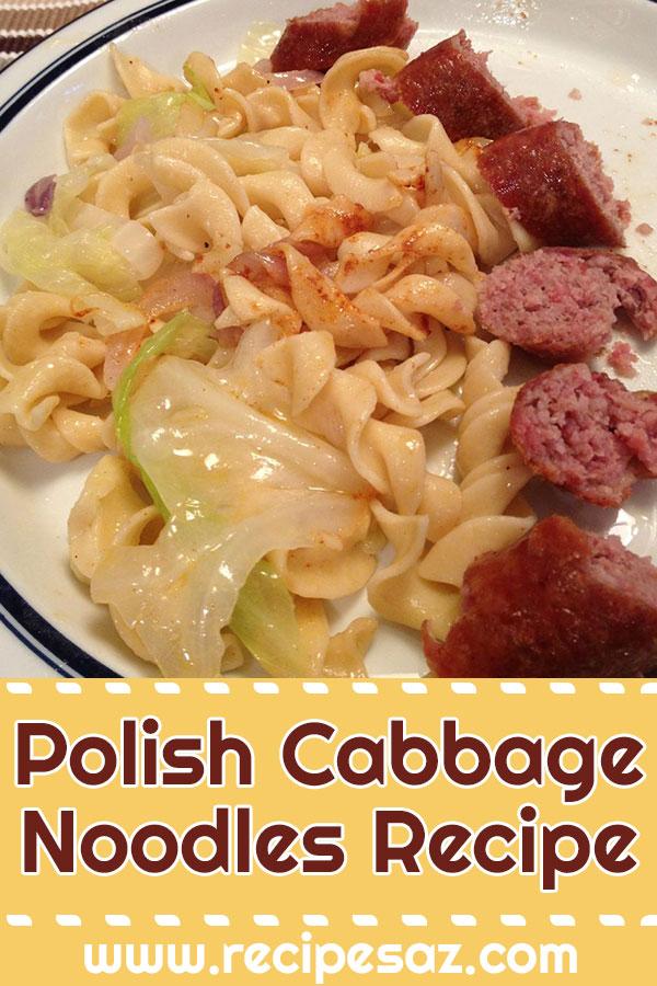 Polish Cabbage Noodles Recipe