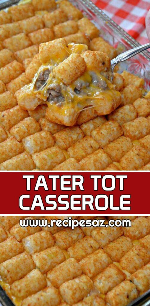 Tater Tot Casserole Recipe - How to make Tater Tot Casserole Recipe at home Truly the BEST Tater Tot Casserole recipe around #TatertotCasserole  #tatertot #tatertorecipe #casserole #casserolerecipe #casserolerecipes #recipes #cooking #recipesaz